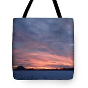 Island Barn Sunset Tote Bag