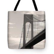 Island Bridge Bw Tote Bag