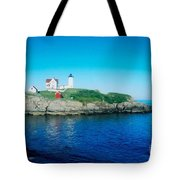 Island Lighthouse Tote Bag