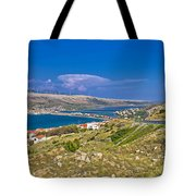 Island Of Pag Aerial Bay View Tote Bag