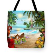 Island Of Palms Tote Bag