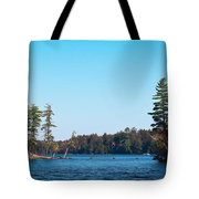 Island On The Fulton Chain Of Lakes Tote Bag