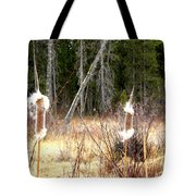 Island Park Cattails Tote Bag