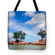 Islands And Clouds, The Seychelles Tote Bag
