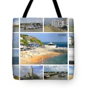 Isle Of Wight Collage - Labelled Tote Bag