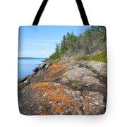 Isle Royale Rocky Shoreline Tote Bag