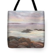Isles Of Shoals From Odiorne Point Tote Bag