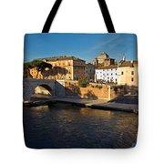 Isola Tiberina Tote Bag