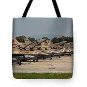 Israeli Air Force F-16`s Of Three Tote Bag