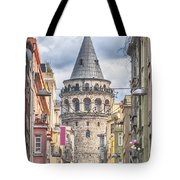 Istanbul Galata Tower Tote Bag by Antony McAulay