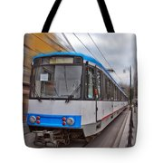Istanbul Tram In Motion Tote Bag