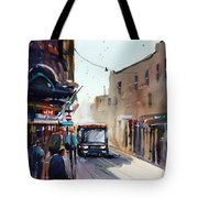 Italian Bus Stop Tote Bag