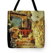 Italian Courtyard Tote Bag