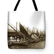 Italian Fishing Boats Fishermen's Wharf San Francisco Circa 1903 Tote Bag