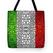 Italian Flag - Italy Stone Rock'd Art By Sharon Cummings Italia Tote Bag