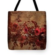 Italian Impasto Style Coral Floral Branch Tote Bag