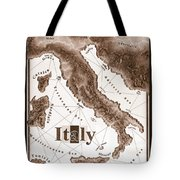 Italian Map Tote Bag