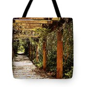 Italian Pergola Hallway Tote Bag