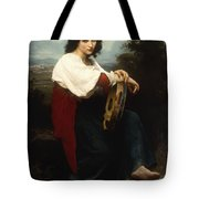 Italian Woman With A Tambourine Tote Bag by William Adolphe Bouguereau