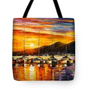 Italy Naples Harbor Tote Bag
