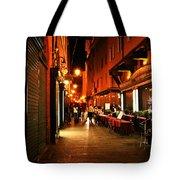 Bologna Italy Night  Scene Tote Bag