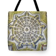 Italy: Palmanova Map, 1598 Tote Bag