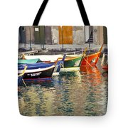 Italy Portofino Colorful Boats Of Portofino Tote Bag