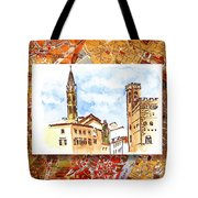 Italy Sketches Florence Towers Tote Bag
