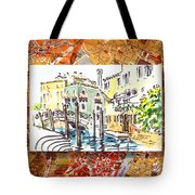 Italy Sketches Venice Canale Tote Bag