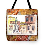 Italy Sketches Venice Piazza Tote Bag