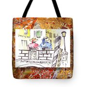 Italy Sketches Venice Two Gondoliers Tote Bag