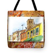 Italy Sketches Venice Via Nuova Tote Bag