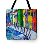 Italy - Venice - Colorful Burano - The Right Side  Tote Bag
