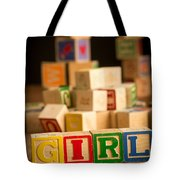 Its A Girl - Alphabet Blocks Tote Bag