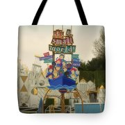 Its A Small World Fantasyland Signage Disneyland Tote Bag