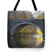 It's Autumn At The Valley Green Bridge Tote Bag