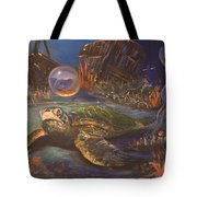It's Getting Crowded Tote Bag