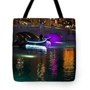 It's Not Venice - Brilliant Lights Glamorous Gondolas And The Magic Of Las Vegas At Night Tote Bag