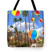 Its Raining Beach Balls Palm Springs Tote Bag