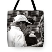 Ivan Lendl And Andy Murray  Tote Bag by Nishanth Gopinathan