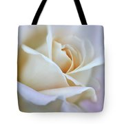 Ivory And Pink Abstract Rose Flower Tote Bag