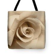 Ivory Brown Rose Flower Tote Bag