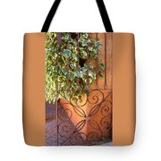 Ivy And Old Iron Gate Tote Bag