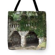 Ivy Covered Stone Wall Tote Bag