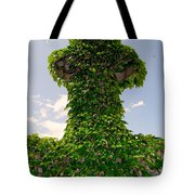 Ivy Covered Cross Tote Bag
