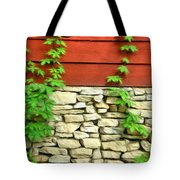 Ivy On Stone And Wood Tote Bag