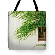Ivy - Window Covered By Creeping Ivy. Tote Bag