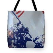 Iwo Jima Flag Raising Design Arizona City Arizona 2004 Tote Bag