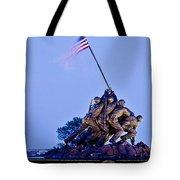 Iwo Jima Memorial At Dusk Tote Bag