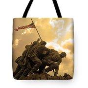 Iwo Jima Memorialized Tote Bag